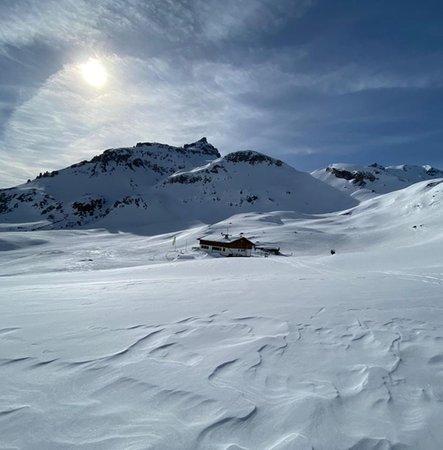 Foto Außenansicht im Winter Sesvenna