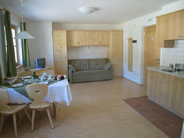 La zona giorno Pichlerhof - Residence 2 soli