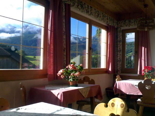 Il ristorante Rasun in Valle d'Anterselva Zollerhof