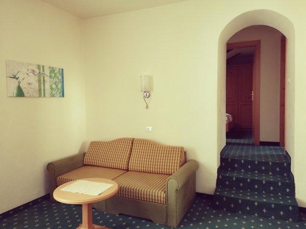 La zona giorno Castel Latemar - Hotel 3 stelle