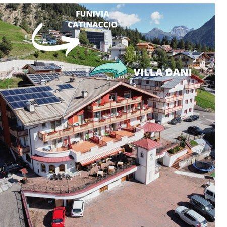 La posizione Appartamenti Villa Dani Vigo di Fassa