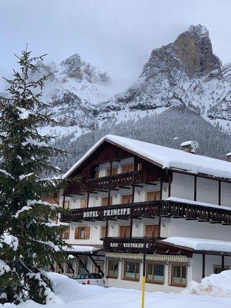 Foto invernale di presentazione Hotel Principe
