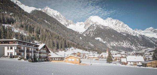 Foto Außenansicht im Winter Vierbrunnenhof