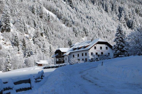 Winter Präsentationsbild Pension + Ferienwohnungen Brunner