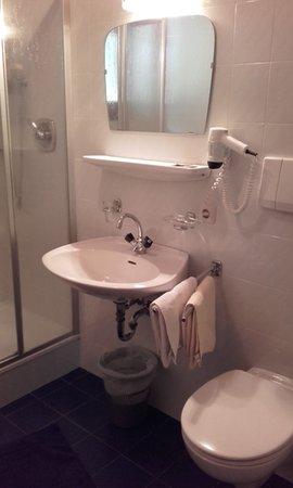 Foto del bagno Pensione + Appartamenti Brunner