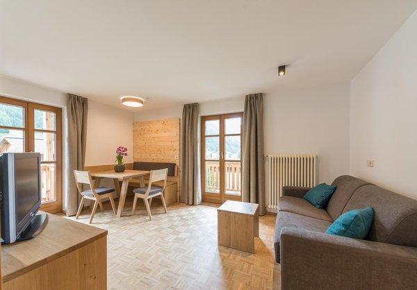 La zona giorno Residence Edelweiß