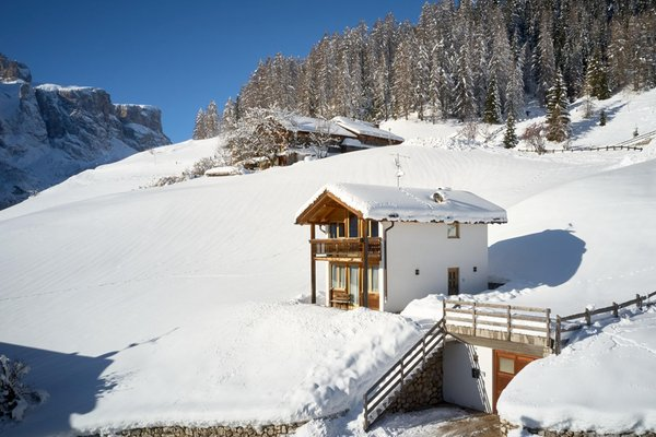 Winter Präsentationsbild Ferienhaus Chalet Alta Badia