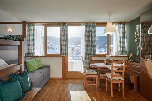 Der Wohnraum Ferienhaus Chalet Alta Badia