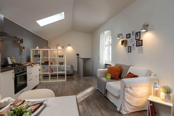 La zona giorno Appartamenti Alpianodisopra