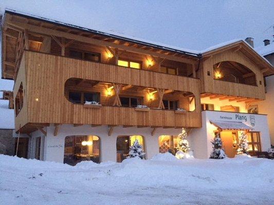 Foto invernale di presentazione Garni Farmhouse Plang