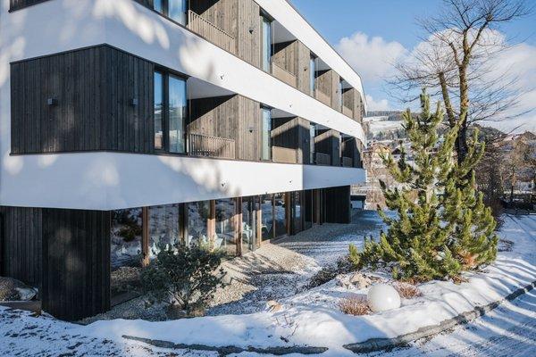 Foto esterno in inverno Alpinhotel