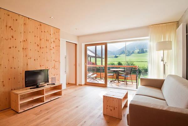 La zona giorno Residence Tolderhof