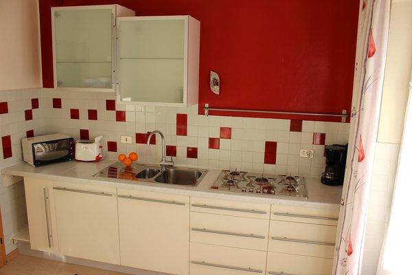 Foto der Küche Abfalterer Appartements