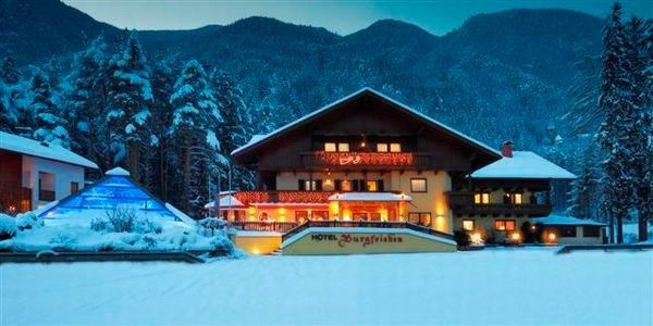 Foto invernale di presentazione Hotel Burgfrieden