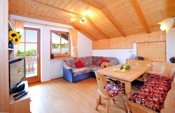 Der Wohnraum Ferienwohnungen auf dem Bauernhof Leimgruberhof