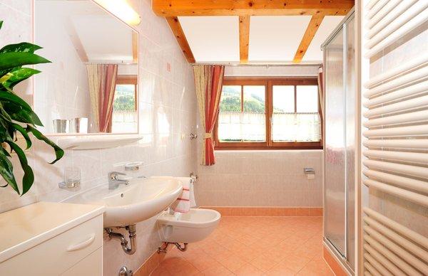 Foto del bagno Appartamenti in agriturismo Leimgruberhof