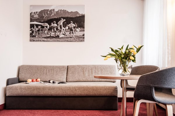 La zona giorno Aparthotel Appartements & Wellness Winkler
