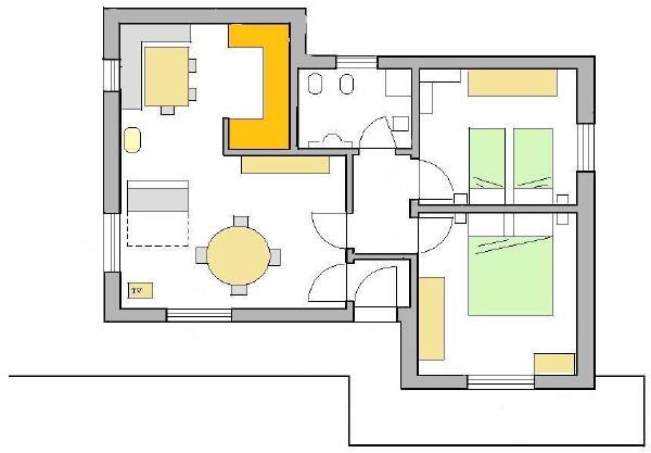 La planimetria Appartamento Lorenzini Marisa