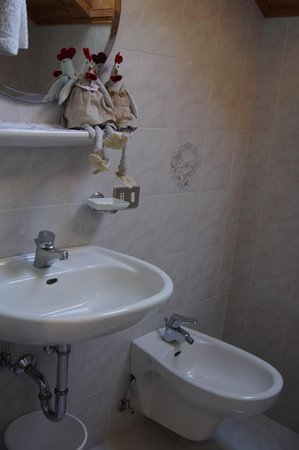 Foto del bagno Appartamenti in agriturismo Ciasa Rü