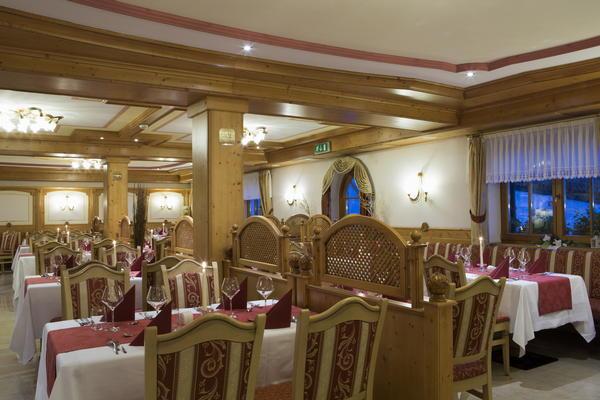Il ristorante Arabba Alpenrose