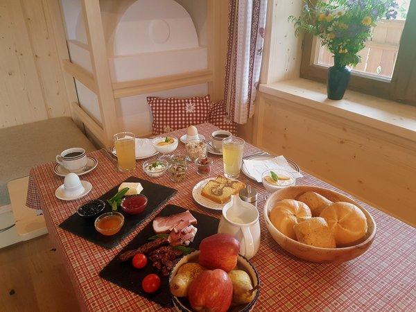 La colazione Masunerhof - Appartamenti in agriturismo 4 fiori