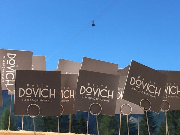 Foto di alcuni dettagli Baita Dovich