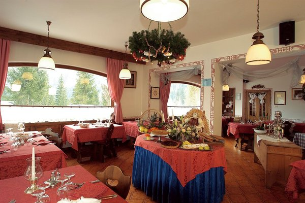 The restaurant Col di Rocca (Marmolada) Camoscio