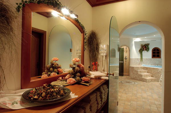 Photo of the wellness area Hotel Camoscio