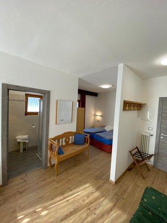 La zona giorno Hotel Camoscio