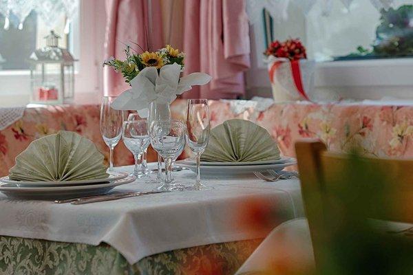 Il ristorante Saviner di Laste (Marmolada) Aurora
