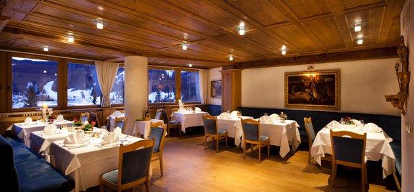 Il ristorante Corvara Sassongher