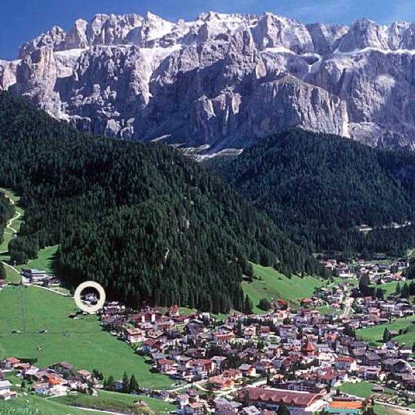 La posizione Hotel Scoiattolo Selva Gardena