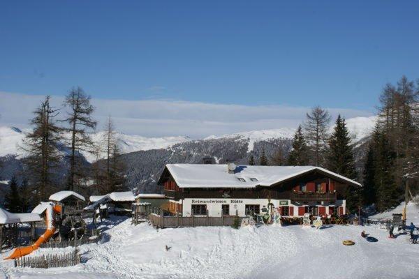 Foto invernale di presentazione Prati Croda Rossa - Rifugio