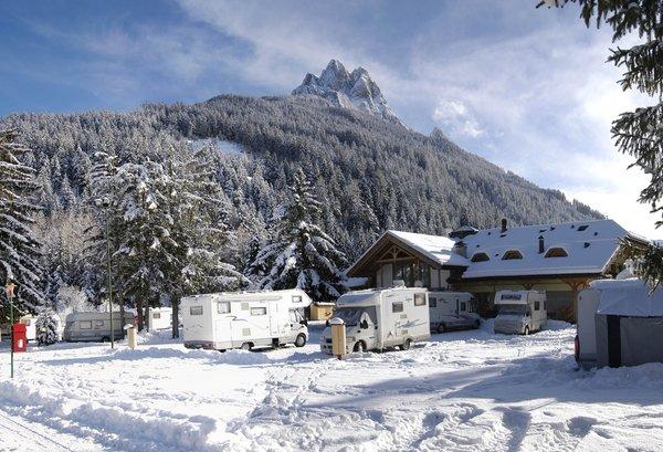 Foto invernale di presentazione Catinaccio Rosengarten - Campeggio