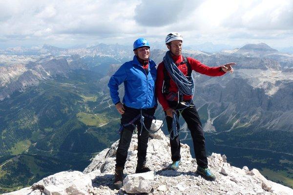 Foto estiva di presentazione Gardena Guides - Associazione Guide Alpine Val Gardena - Guide alpine