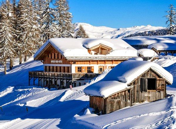 Foto invernale di presentazione Rudi Hütte - Rifugio