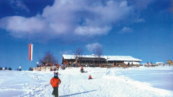 Foto Außenansicht im Winter Tuffalm