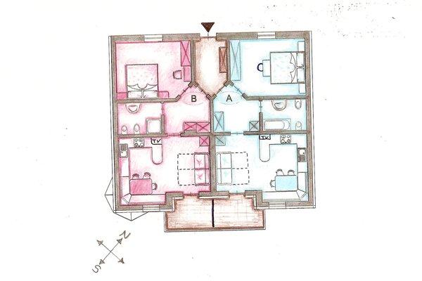 La planimetria Appartamenti Dolores