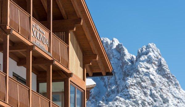 Foto esterno in inverno Villa Solinda