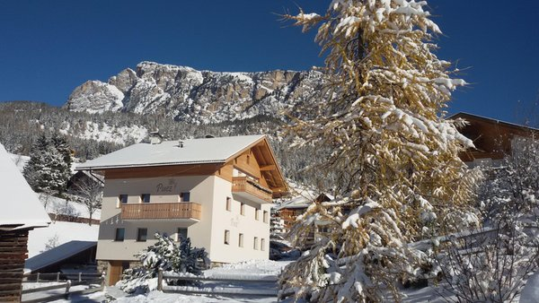 Foto invernale di presentazione Appartamento Puez