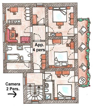 La planimetria Appartamenti Helene