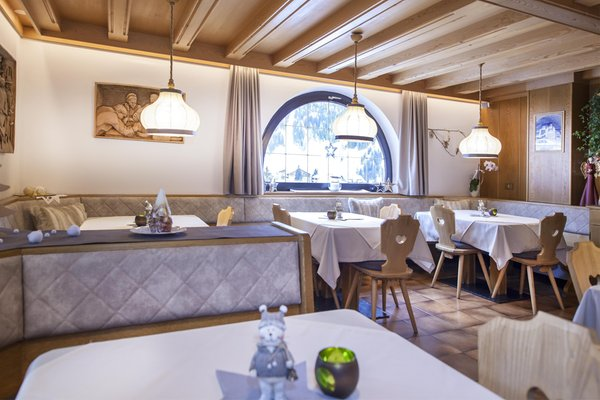 The restaurant Selva Gardena / Wolkenstein La Majon & Dependance