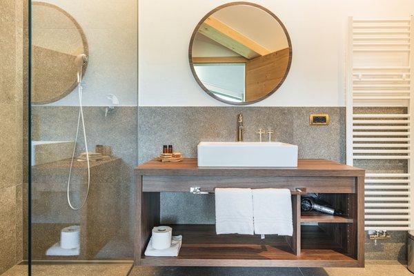 Foto del bagno Garni-Hotel + Appartamenti Miara