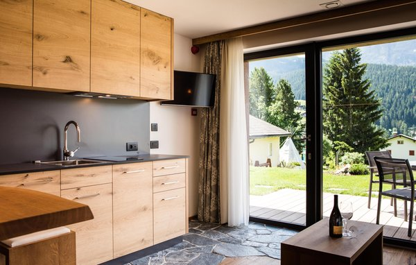 La zona giorno Garni-Hotel Soraiser Dolomites Small & Luxury