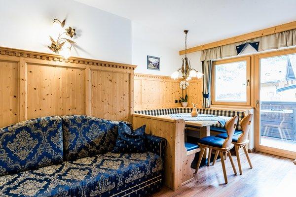 La zona giorno Garni-Hotel + Residence Wildbach