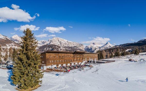 Foto esterno in inverno Monte Pana Dolomites Hotel