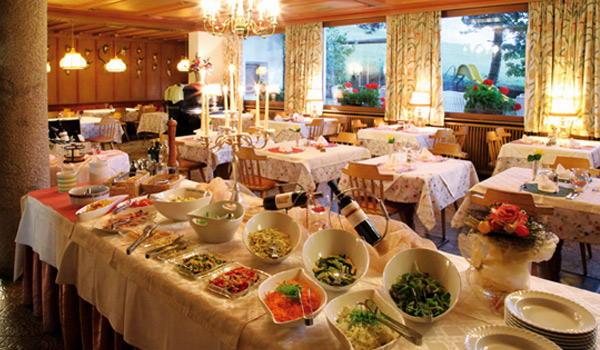 Il ristorante Castelrotto Solaia