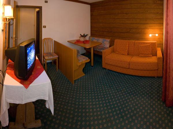 La zona giorno Hotel Solaia