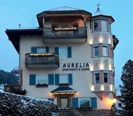 Foto esterno in inverno Apartments Villa Aurelia