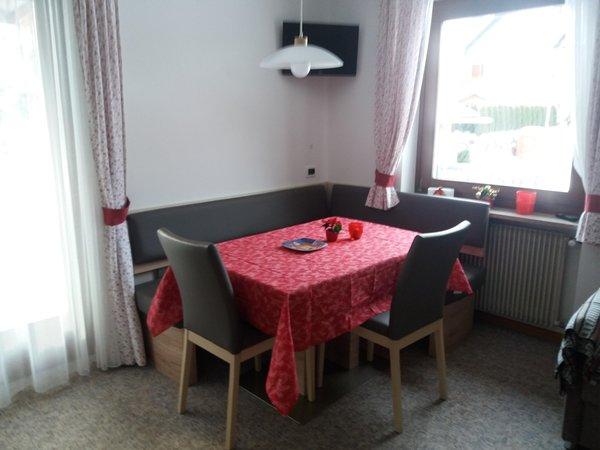 La zona giorno B&B + Appartamenti Ulrike